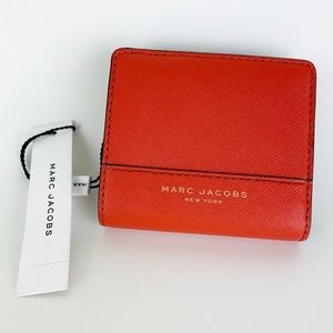 Marc Jacobs Saffiano Open Face Billfold Wallet